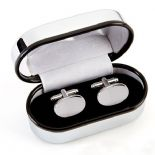 Stainless Steel Oval Cufflinks PERSONALISED ref. SSOC1